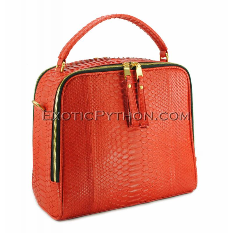 Snake handbag red matt BG-298