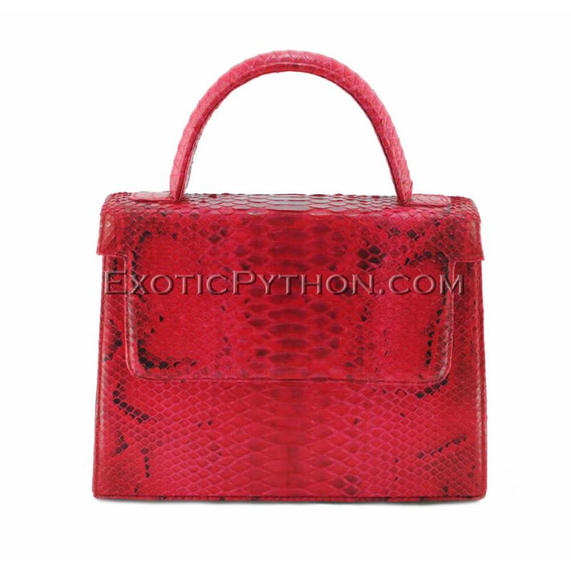 Python skin bag red motive BG-294