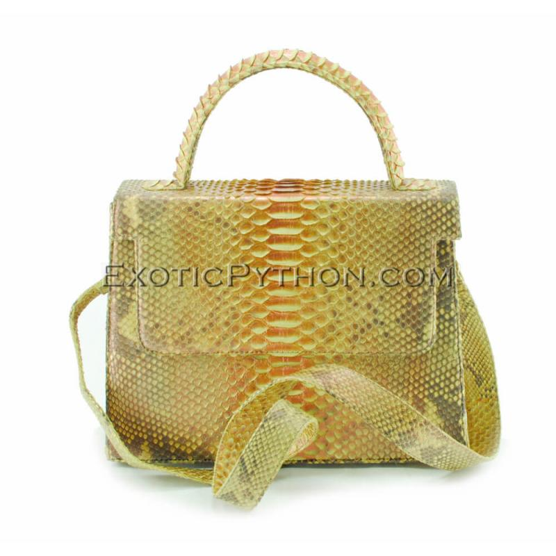Snake leather bag gold platting BG-287