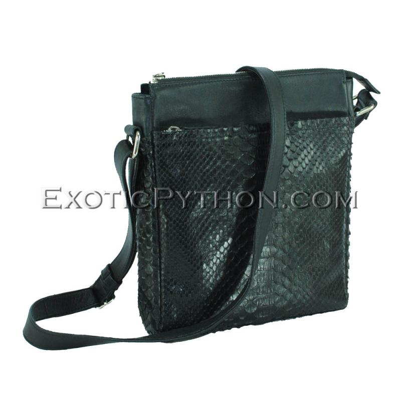 Python leather crossbody bag BG-368