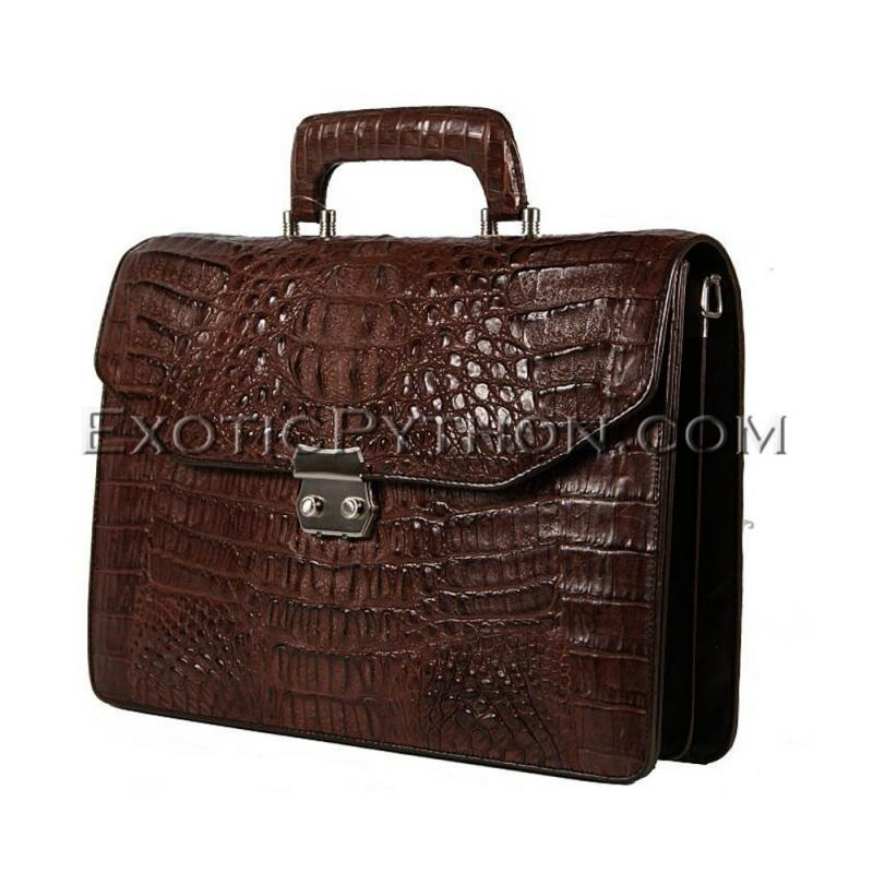 Crocodile leather men's briefcase  BG-369