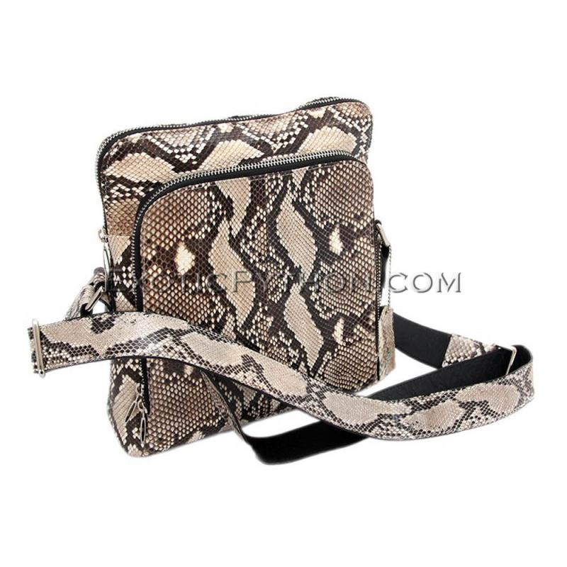 Python leather bag natural color BG-252