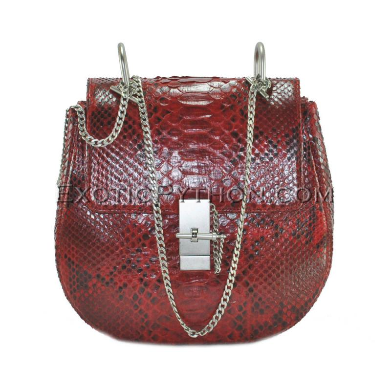 Python leather crossbody bag BG-331