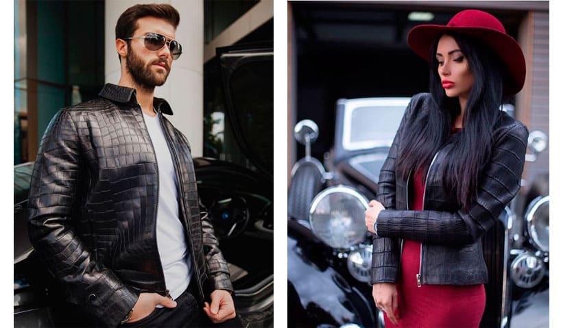 Crocodile leather jackets are a priori luxury!