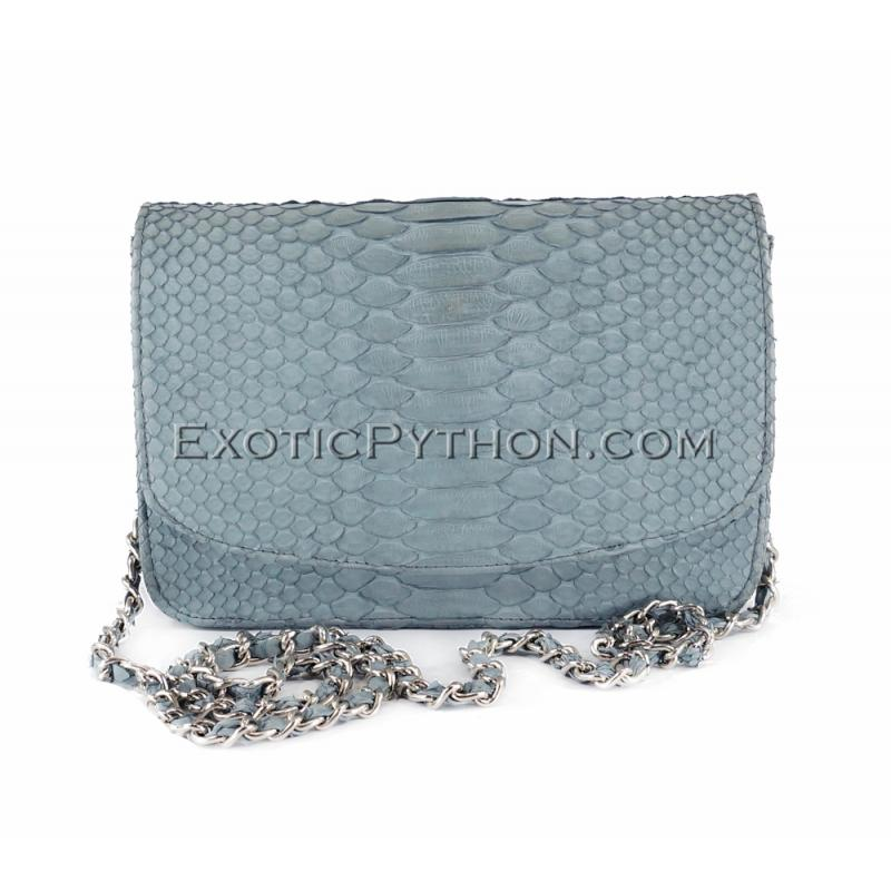 Python leather clutch gray color CL-145