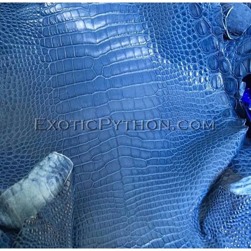 Crocodile skin color gloss Blue SK-37