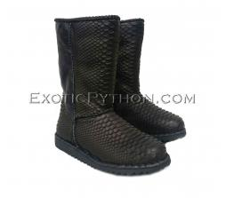 Snakeskin uggs black color SH-139