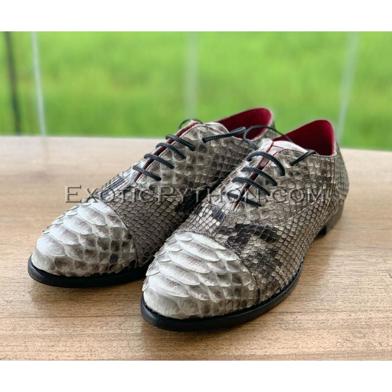 Natural python leather shoes for men's SH-126