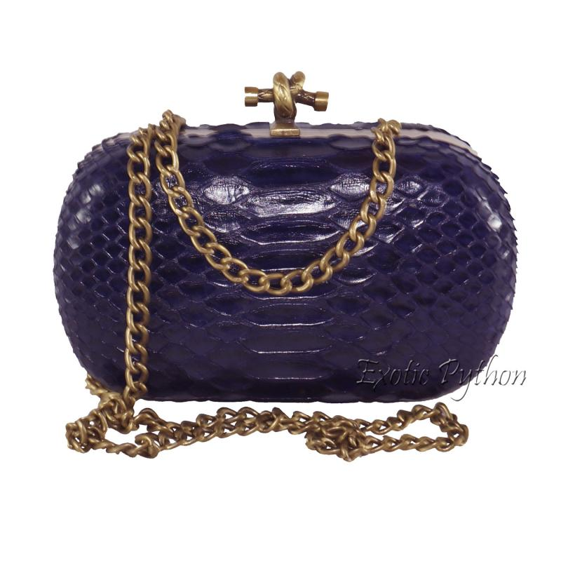 Python clutch dark purple shiny  CL-50
