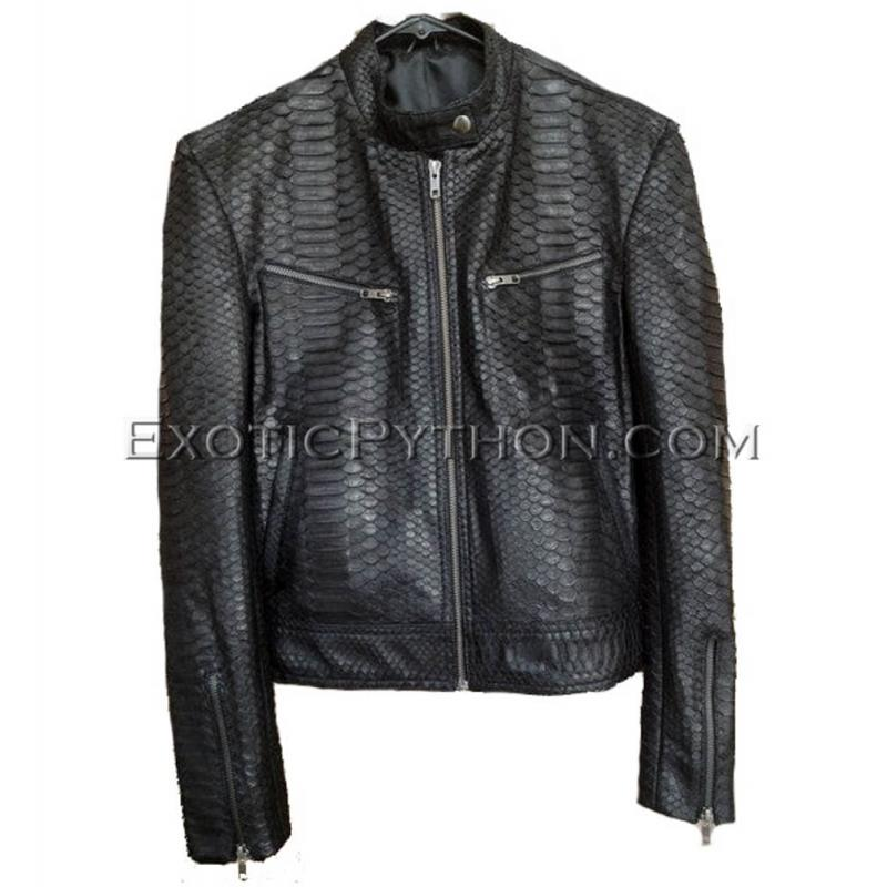Snakeskin leather jacket mens JK-29