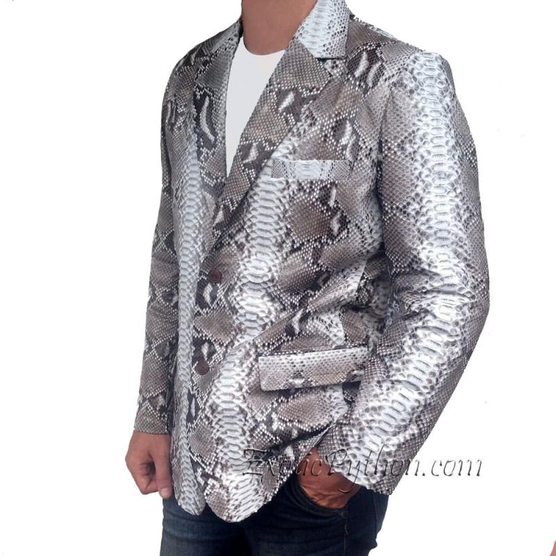 Mens snakeskin jacket natural motive JK-6