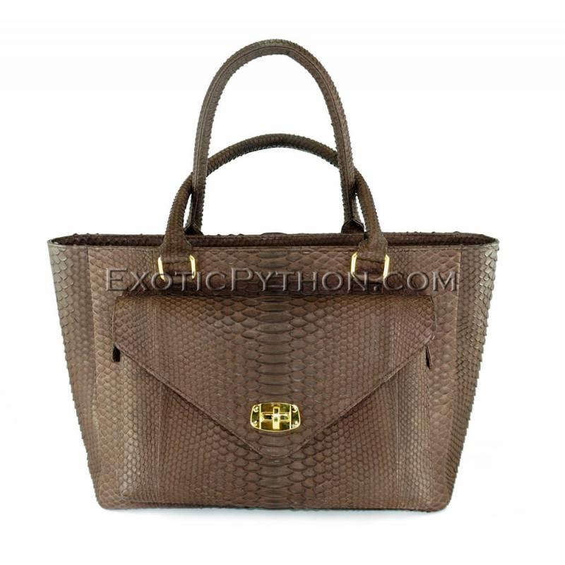 Python bag brown shiny BG-225