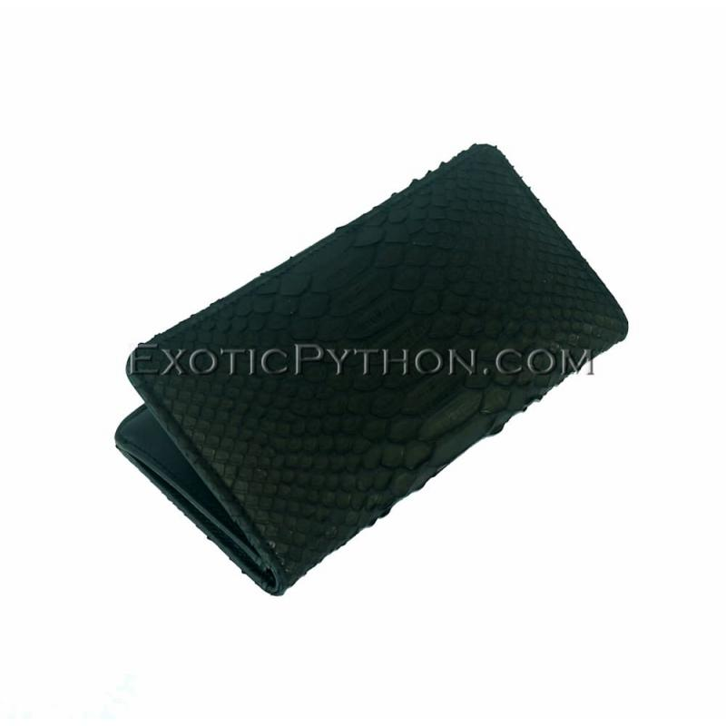 Python leather wallet black matt WA-64