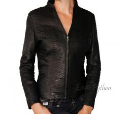 Snakeskin jacket black matt JK-5