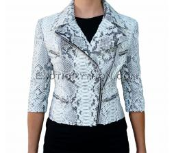 Genuine snakeskin jacket natural motive JK-12