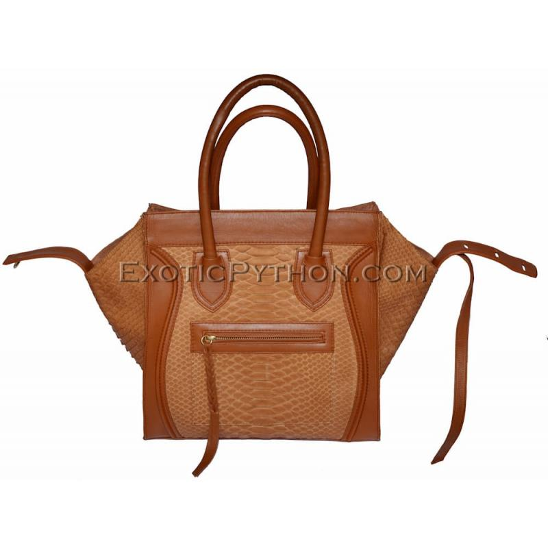Python skin bag cream color matt BG-11