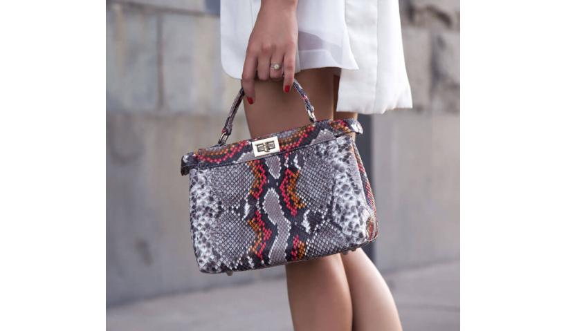 Snakeskin bag created under the brilliant idea of the famous Italian brand