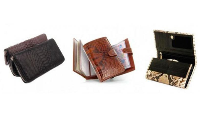 Snakeskin wallet n your hands is an unequivocal sign of your solvency and understanding of beauty