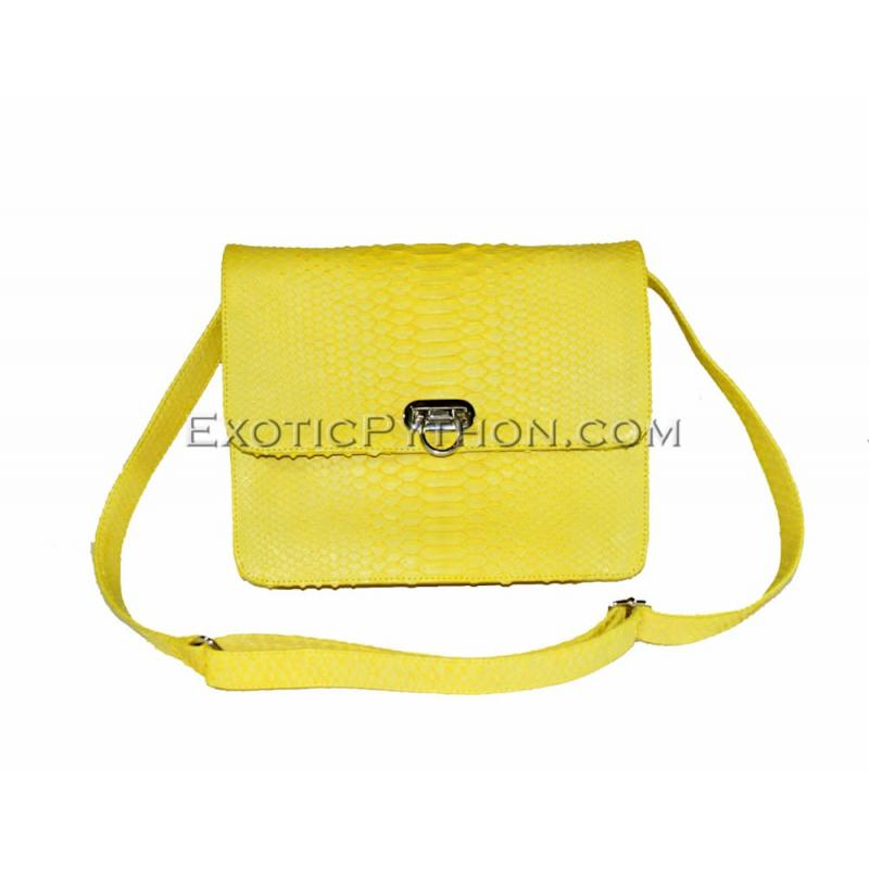 Python clutch purse yellow matt CL-1
