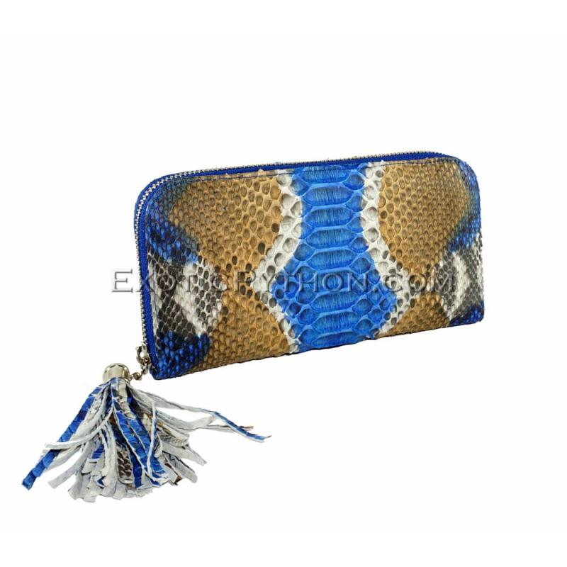 Python wallet with tassle multicolor WA-48