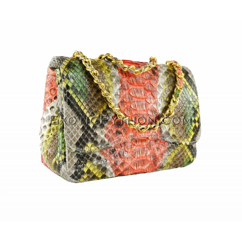 Multicolor snakeskin purse Cl-105