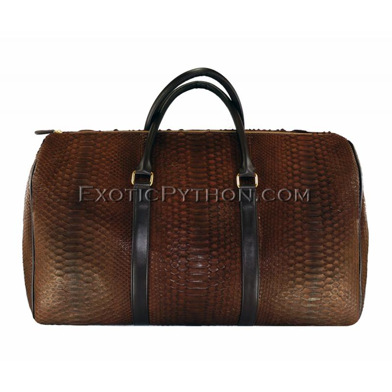 Snakeskin travel bag BG-230