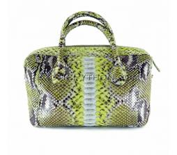 Snake leather bag shiny multicolor BG-233
